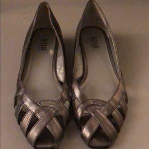 Cute a.n.a. Flats with open toe Sz 7.5